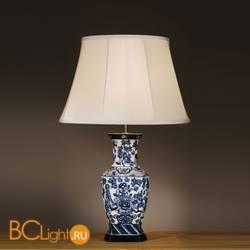 Настольная лампа Lui's Collection Blue Hexagon Vase LUI/BLUE HEX + LUI/LS1039