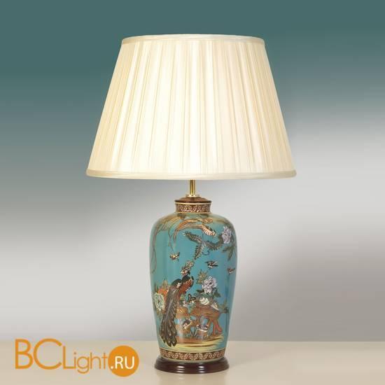 Настольная лампа Lui's Collection Peacock Turquoise LUI/PEACOCK + LUI/LS1038