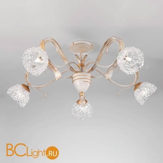 Потолочная люстра Masca Artica 1864/5PL Bianco oro / Glass 577