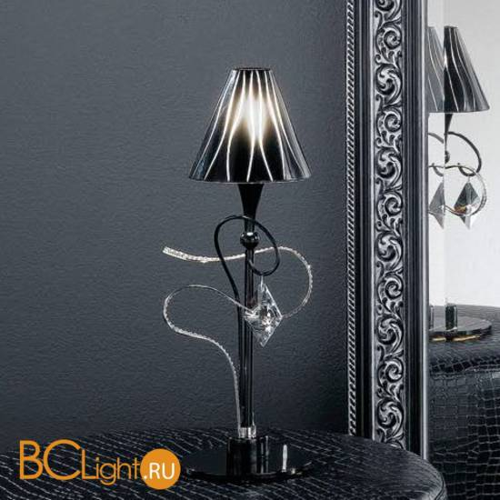 Настольная лампа Masca Chic 1831/B1 Nero lucido / Glass 501