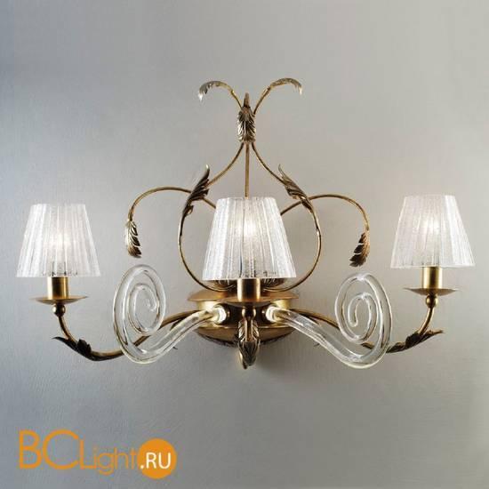 Бра Masca Corinto 1841/A3 Oro argento / Glass 539