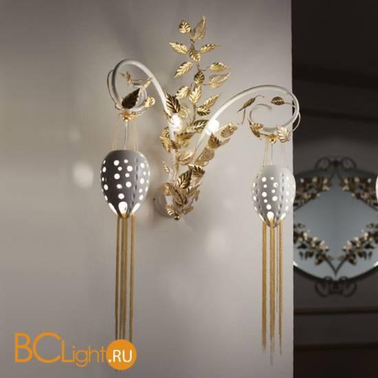 Бра Masca Fantasia 1881/A2 Bianco lucido oro