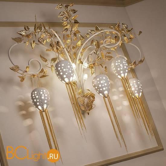 Бра Masca Fantasia 1881/A5 Bianco lucido oro