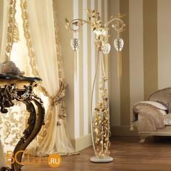 Напольный светильник Masca Fantasia 1881/P3 Bianco lucido oro