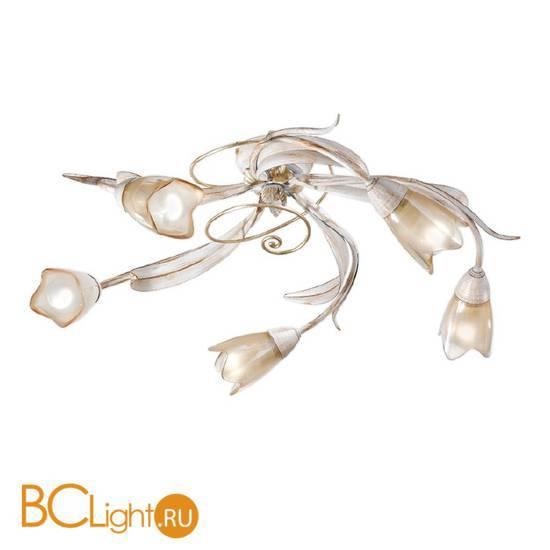 Потолочная люстра Masca Fontana 1805/5PL Faggio / Glass 391
