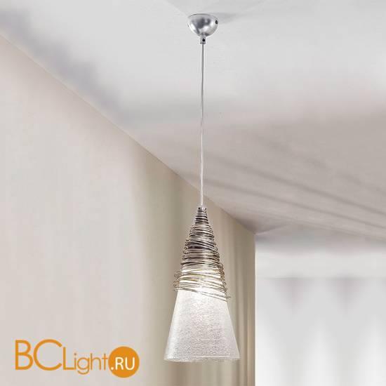 Подвесной светильник Masca Siberia 1818/1SG Argento acido / Glass 500