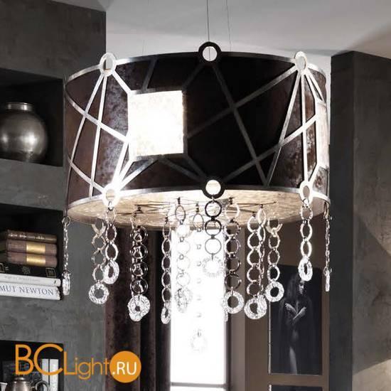 Подвесной светильник Masca Vision 1877/4 Argento patinato / Brown leather