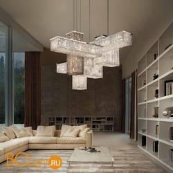 Подвесной светильник Masiero Cubo S/COMBO 175 G04 TR+SM CUT CRYSTAL