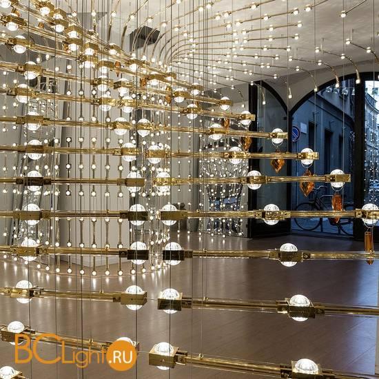 Подвесной светильник Masiero Raqam P5 BASIC BATCH A – MODULO 7 × 48 Gold