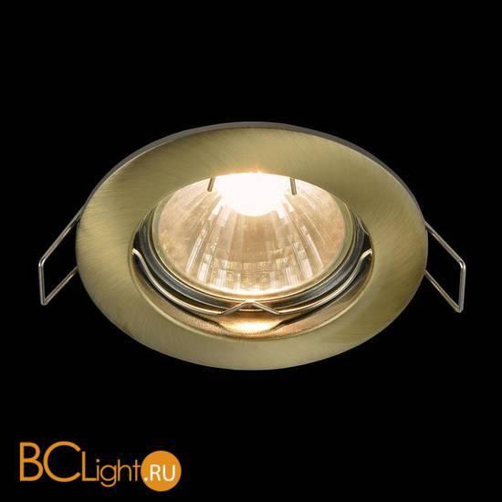 Встраиваемый спот (точечный светильник) Maytoni Metal DL009-2-01-BZ