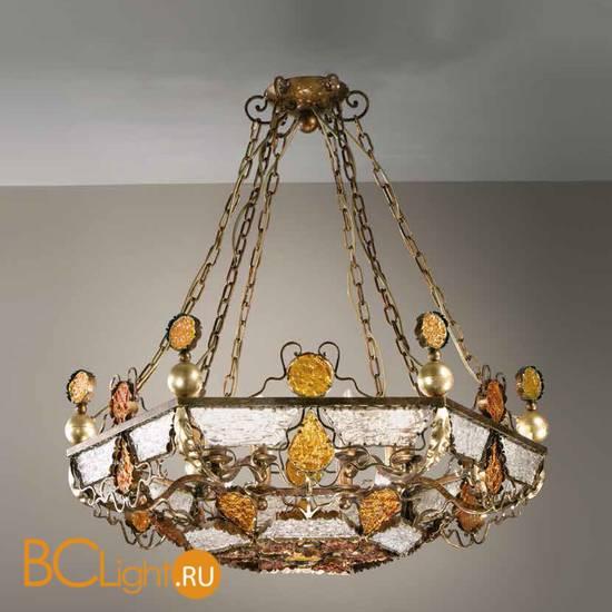 Подвесной светильник MM Lampadari Deco 6741/12 V2314 amber