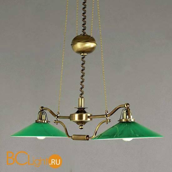 Люстра Orion LU 1411/2 Patina-Zug/365 grun