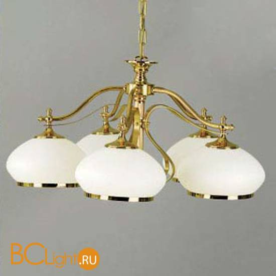 Люстра Orion LU 1460/5 gold/385 opal-gold