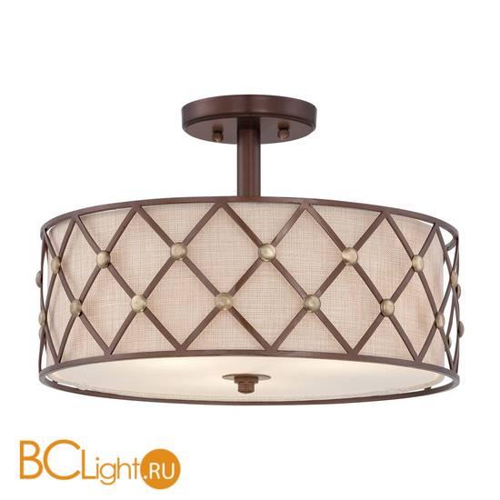Потолочный светильник Quoizel Brown Lattice QZ/BROWNLATT/SF