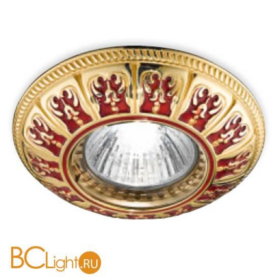 Встраиваемый спот (точечный светильник) Renzo Del Ventisette FA 14396/1 DEC. OL RED