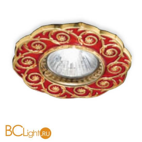 Встраиваемый спот (точечный светильник) Renzo Del Ventisette FA 14397/1 DEC. OL RED