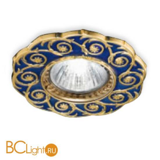 Встраиваемый спот (точечный светильник) Renzo Del Ventisette FA 14397/1 DEC. OL BLUE
