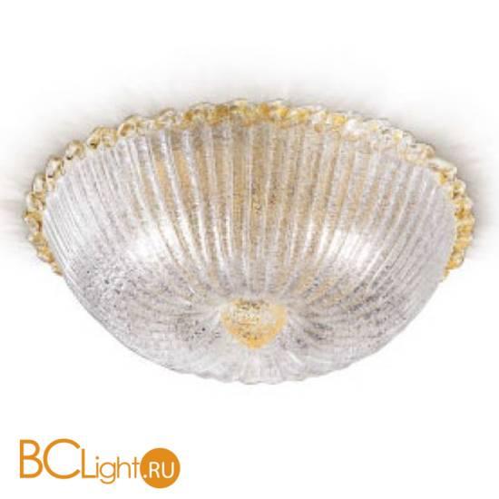 "Потолочный светильник Renzo Del Ventisette ""Floreale"" PL 13825/5 50 DEC. Cristallo e oro"