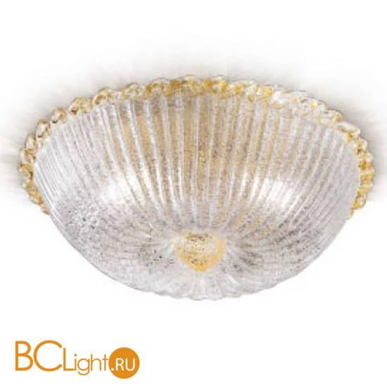 "Потолочный светильник Renzo Del Ventisette ""Floreale"" PL 13825/3 DEC. Cristallo e oro"