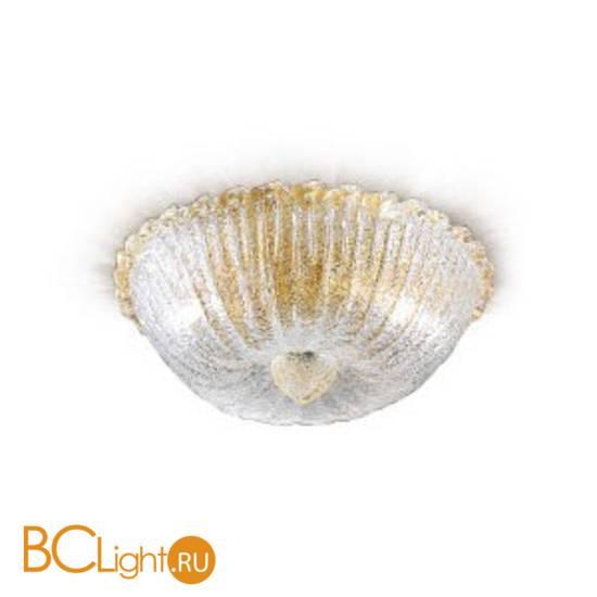 "Потолочный светильник Renzo Del Ventisette ""Floreale"" PL 13825/2 DEC. Cristallo e oro"