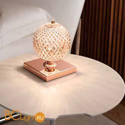 Настольная лампа Renzo Del Ventisette Ohlala LVP14534/1 DEC. ORO ROSA CRISTALLO ROSA