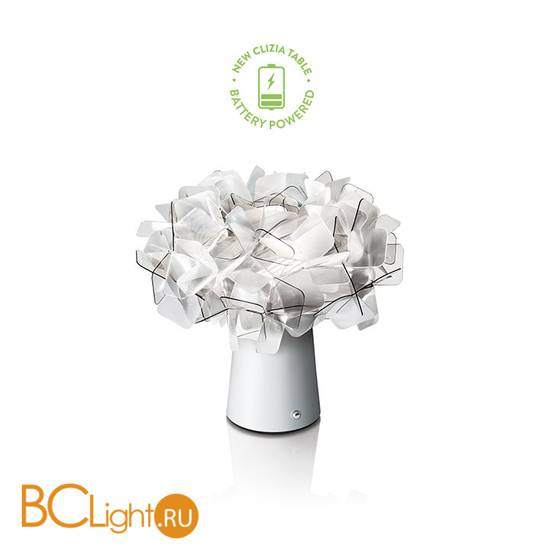 Настольный светильник Slamp Clizia TABLE FUME BATTERY CLI78TAVB0C1F_000
