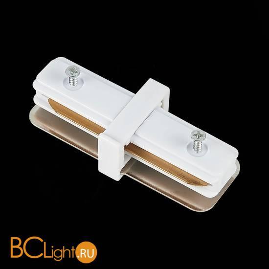 Коннектор шинопровода ST Luce ST002.519.00 1-фазный прямой белый