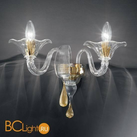 Бра Vetri Lamp 1181/A2 Cristallo/Oro 24 Kt.