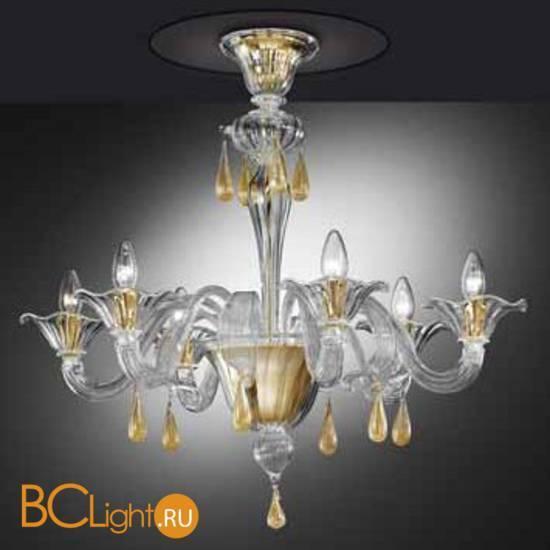 Потолочная люстра Vetri Lamp 1181/6PL Cristallo/Oro 24 Kt.