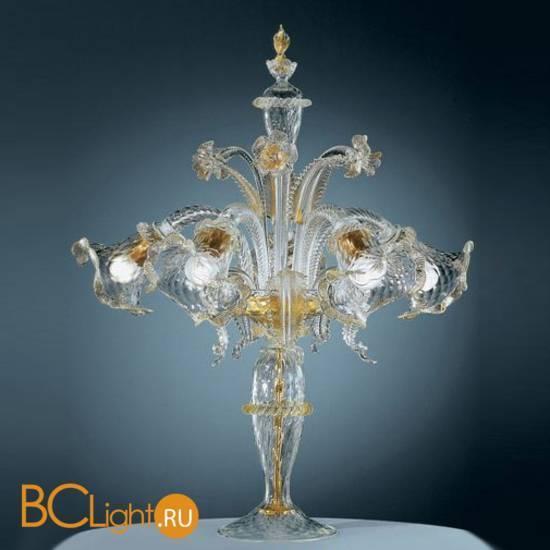 Настольная лампа Vetri Lamp 87/T5 Cristallo/Oro 24Kt