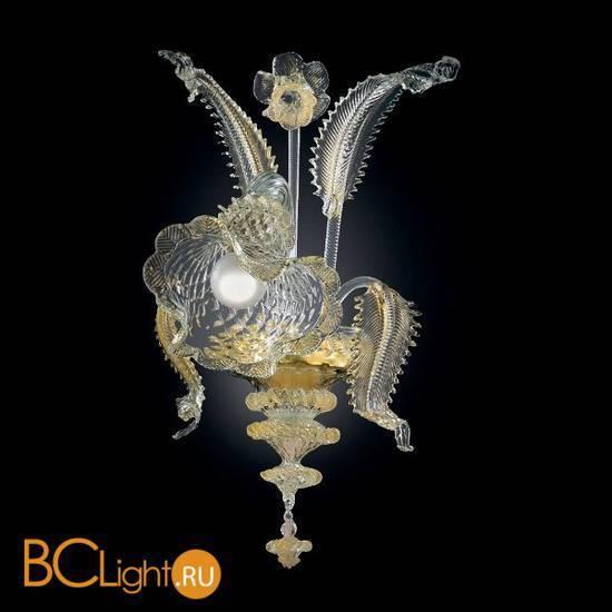 Бра Vetri Lamp 87/A1 Cristallo/Oro 24Kt