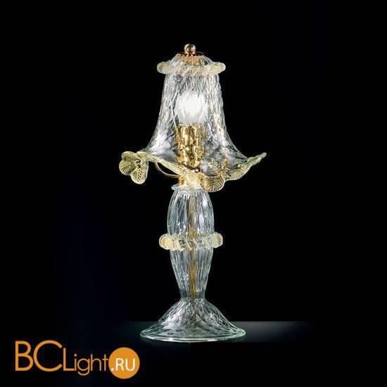 Настольная лампа Vetri Lamp 87/L Cristallo/Oro 24Kt