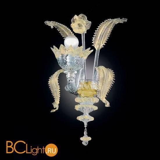 Бра Vetri Lamp 86/A1 Cristallo/Oro 24Kt
