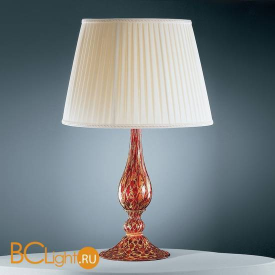 Настольная лампа Vetri Lamp 96 Rosso/Oro 24 kt. Completo