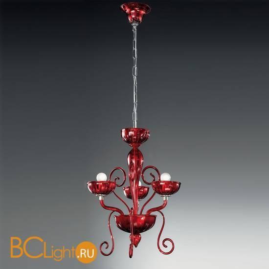 Люстра Vetri Lamp 971/3 Rosso