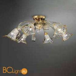 Потолочная люстра Vetri Lamp 1028/6 Cristallo/Ambra