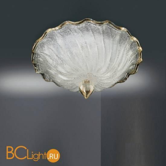 Настенно-потолочный светильник Vetri Lamp 1132/55 Cristallo/Oro 24 Kt.