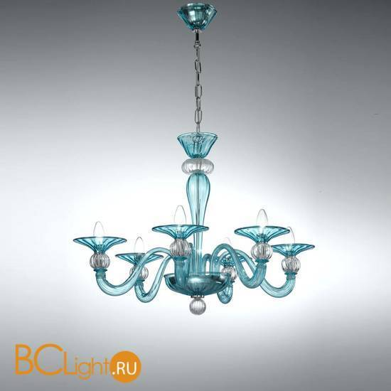 Люстра Vetri Lamp 1154/6 Light Blue(Azurro)/Cristallo