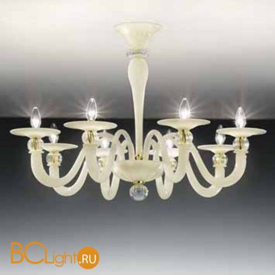 Потолочная люстра Vetri Lamp 1154/8PL Avorio/Cristallo