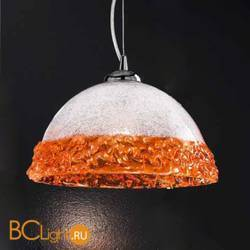 Подвесной светильник Vetri Lamp 1158/25 Cristallo/Arancio