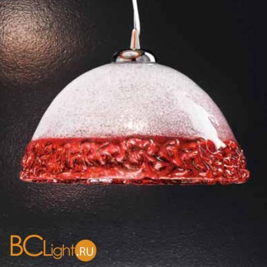 Подвесной светильник Vetri Lamp 1158/25 Cristallo/Rosso