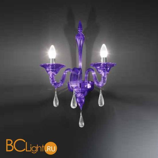 Бра Vetri Lamp 1184/A2 Viola/Gocce cristallo
