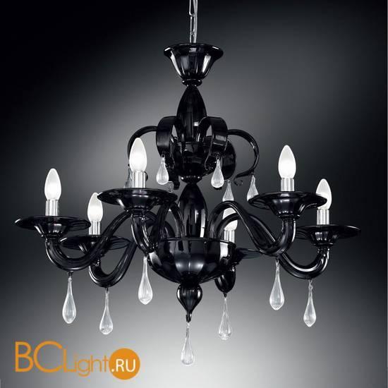 Люстра Vetri Lamp 1184/6 Nero/Gocce cristallo