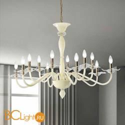 Люстра Vetri Lamp 1186/6+6 Bianco/Cristallo