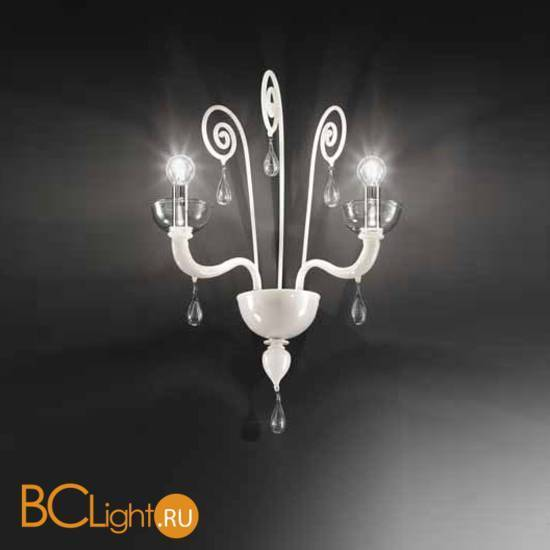 Бра Vetri Lamp 1200/A2 Bianco/Cristallo