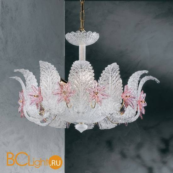 Люстра Vetri Lamp 142/50 Cristallo/Rosa