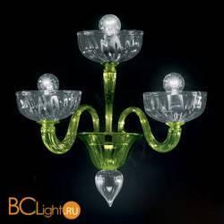 Бра Vetri Lamp 925/A3 Verde oliva/Cristallo