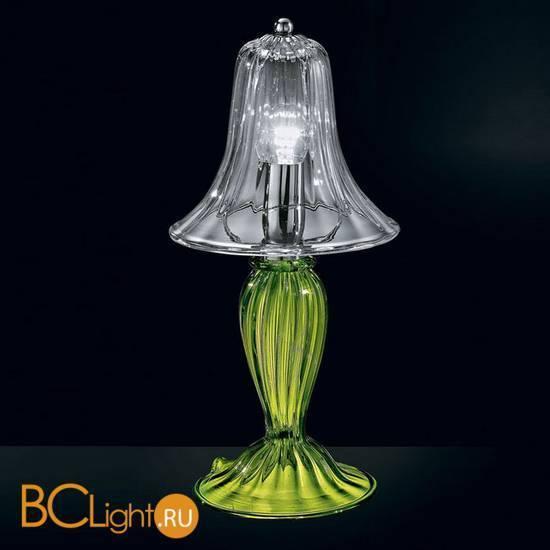 Настольная лампа Vetri Lamp 925/L Verde oliva/Cristallo