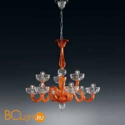 Люстра Vetri Lamp 925/6+3 Arancio/Cristallo