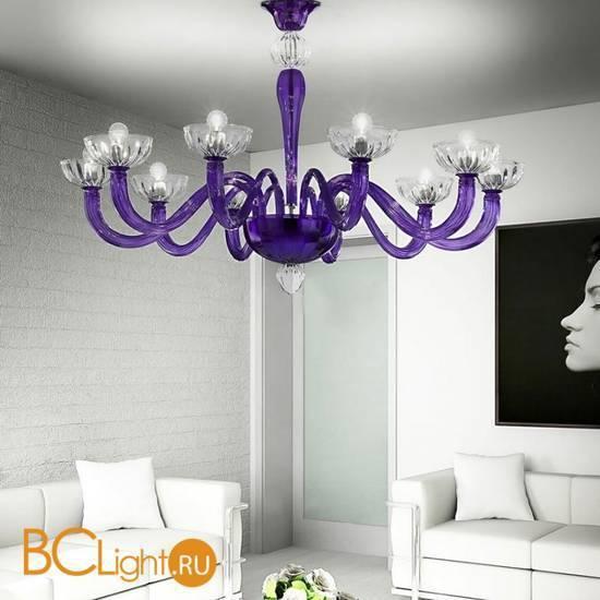 Потолочная люстра Vetri Lamp 925/10PL Viola/Cristallo